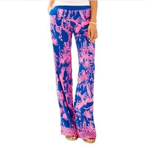 Lilly Pullitzer Pink & Navy Pants Seaside Beach